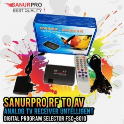 RF To AV Analog TV Receiver Untelligent SanurPro FSC-8010